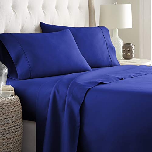 Hotel Luxury Bed Sheets Set-1800 Series Platinum Collection-Deep Pocket,Wrinkle & Fade Resistant (Queen,Royal Blue)