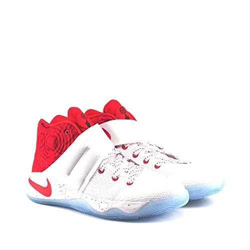 Nike Grade School Boys Kyrie 2 Basketball Shoes Style# 826673-166 (6.5, White/University Red-Gym Red)