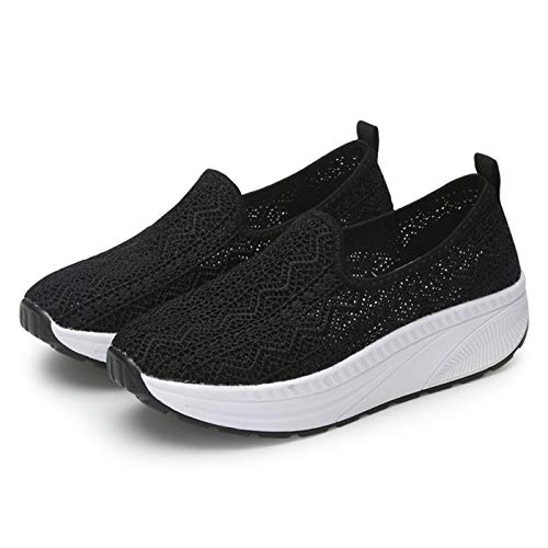 Chaussures Creepers Femme Mode a15 Sneakers Plateforme Black Marche Plate Basket Gym Mesh Fitness 1 Sport WrpqBnWPwX