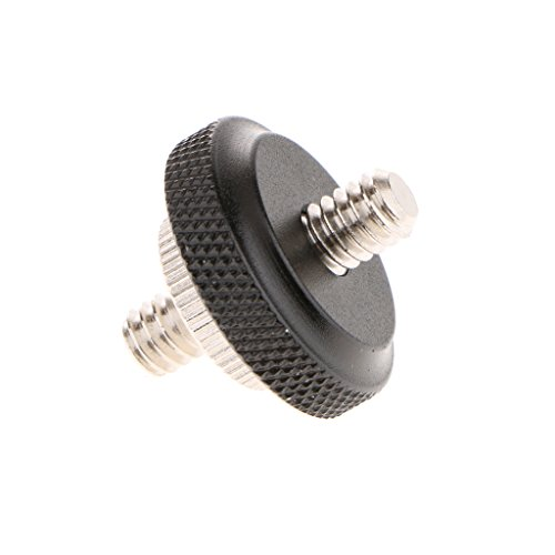 MagiDeal Long 1/4'' Male Threaded to 1/4'' Male Threaded Screw Adapter with Adjustable 1/4 inch Nut for Camera (1/4' Long Screws)
