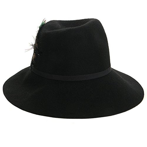 August Hats Womens Floppy Fedora Hat With Feather