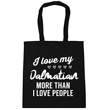 HippoWarehouse I love my dalmatian more than I love people Tote Shopping Gym Beach Bag 42cm x38cm, 10 litres 41XtK1tjmiL