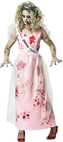 ESSA OAT clothes series Halloween Undead Prom Queen Blood Spattered Dress Zombie Costume Adult Women -