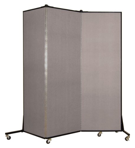 Screenflex BFSL683-BG Light Duty Portable Room Divider, 3 Panels by Screenflex