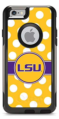Coveroo LSU Polka Dots Design Phone Case for iPhone 6 - Retail Packaging - Black