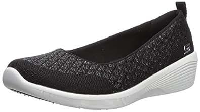 Skechers Womens 23750 Arya - Get Real Black Size: 5