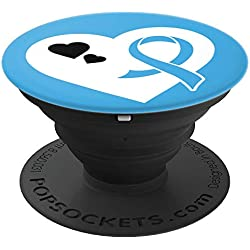 Lymphedema Awareness Gifts- Lymphedema Ribbon - PopSockets Grip and Stand for Phones and Tablets