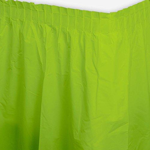Lime Plastic Table Skirt