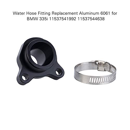 Cheriezing Water Hose Fitting Replacement with Clamp for BMW N55 N54 N53 N52 N20 Replace# 11537541992 11537544638