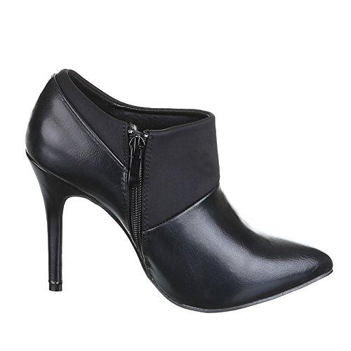 para Negro Sintético negro Material Design Botas de mujer Ital nI01XZqxF
