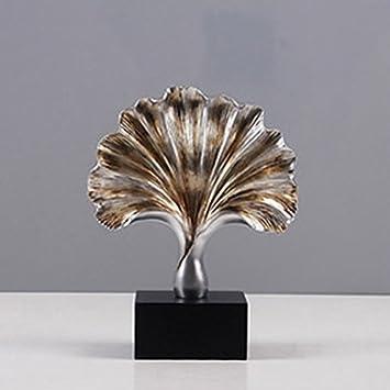 Goney Handwerk Ginkgo Blatt Form Schmuck Nordic Dekoration Luxus  Wohnaccessoires Harz Material, Villa Wohnzimmer Dekoration