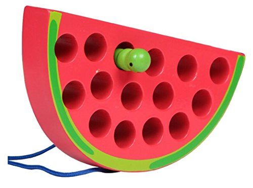 Chusea Child Activity Hammer Toys Early Childhood Education Toy Insect Eating Fruit Threading Game (Watermelon) by Chusea