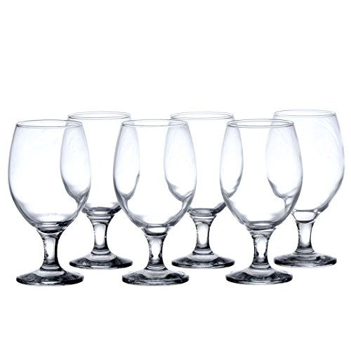 (BISTRO 12-Piece Water/Beverage Glasses Set, 13.5 Oz, Durable Tempered Glass, Restaurant&Hotel Quality)