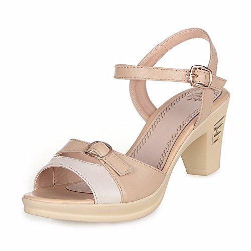 No. 55 Shoes Estate Sandali Donna con Vera Pelle Sottile e Scarpe,US8.5/EU39/UK6.5/CN40,l'albicocca