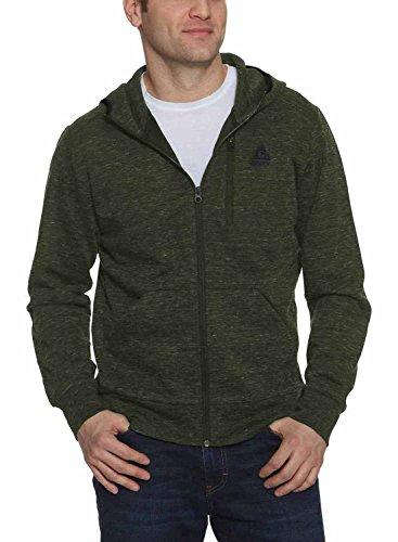 (Gerry Men's Full Zip Hoody Jacket (Green Mix, Medium))