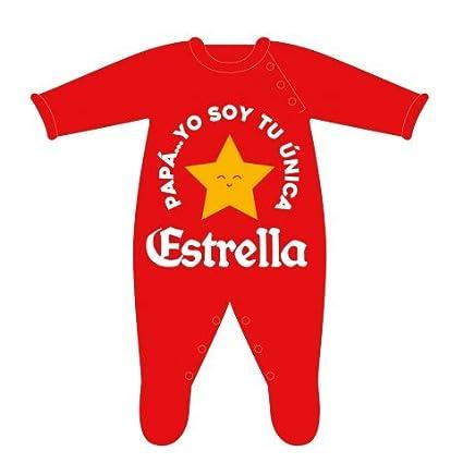 Bauba Style - Pelele Papá Yo soy tu única Estrella, Rojo, 3-6