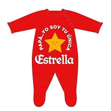 Bauba Style - Pelele Papá Yo soy tu única Estrella, Rojo, 0-3 meses: Amazon.es: Bebé