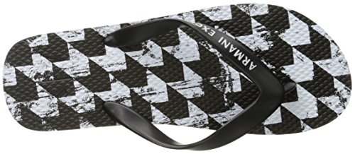 A|X Armani Exchange Mens Printed Flip Flop Houndstooth A63gLrBQoA