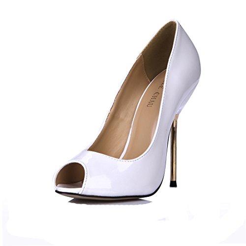 Tacon Aguja de Alto Met CHMILE para Zapatos de Bombas Mujer Chau 8zFxRqY