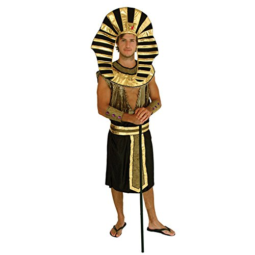 Lerela Men's King of Egypt Costume Halloween Pharaoh Cosplay Costumes -