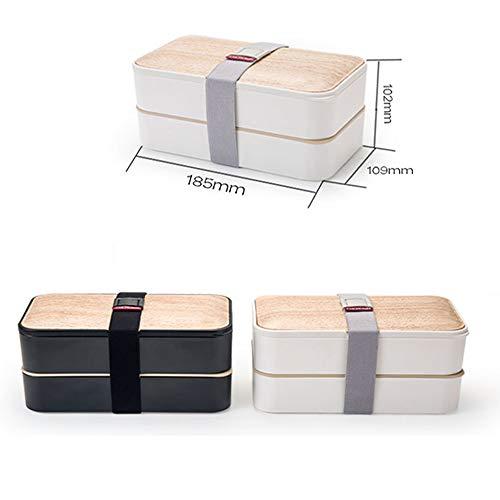 Cajas Bento Caja de almuerzo Bento Box a prueba de fugas 2 Nivel ...
