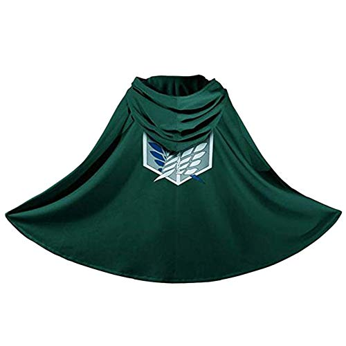 (AKlamater Attack on Titan Cape Costume Anime Shingeki no Kyojin Cloak Cosplay)
