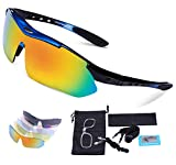 Cycling Glasses, Carfia TR90 Polarized Sports Sunglasses 100% UV400 Protection for Men Women