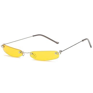 Luckyoiu Gafas de sol de época, pequeñas y estrechas, gafas ...