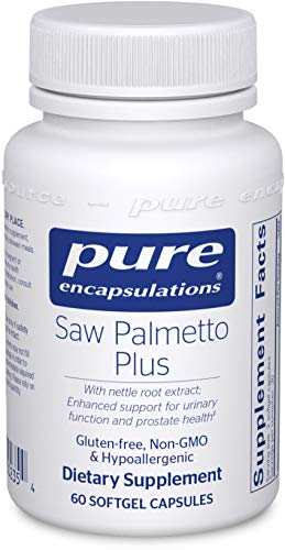 Pure Encapsulations – Saw Palmetto Plus with Nettle Root Extract – Hypoallergenic Supplement with Support for Prostate Health and Functioning* – 60 Softgel Capsules For Sale