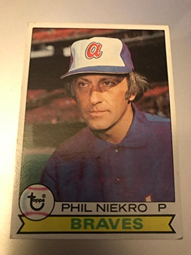 1979 Topps Baseball Phil Niekro (Pitcher) Card #595! Atlanta Braves Hall of Fame! Cleveland Indians, New York Yankees, Toronto Blue Jays Cleveland Indians Pitcher