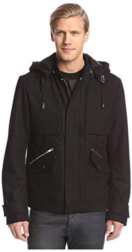 Antony Morato Men's MMCO00285-FA500024 Peacoat with Removable Hood,