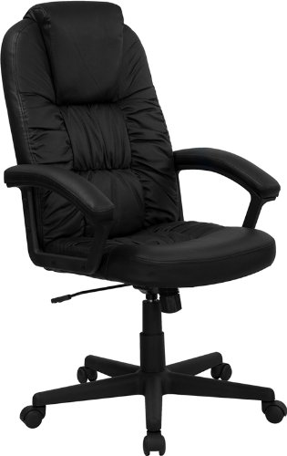 FLASH Furniture High Back Black Leather Executive Swivel ...