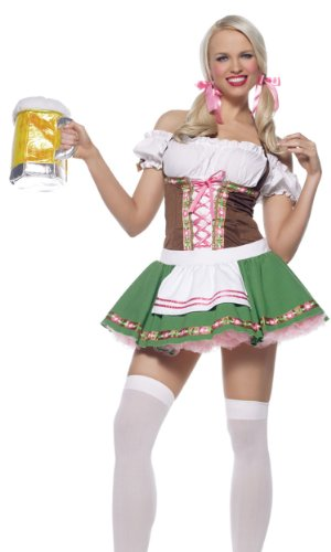 Leg Avenue Beer Girl Costume (Leg Avenue Women's Costume, Beer Purse Gold, ONE)