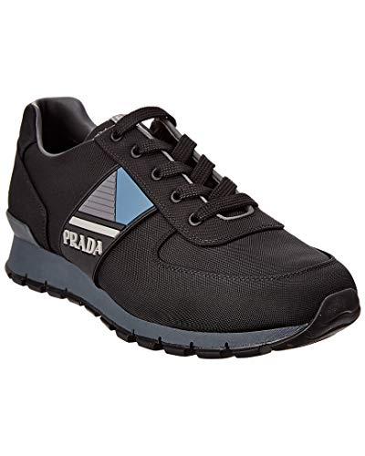 Prada Technical Leather & Mesh Sneaker, 7, Black