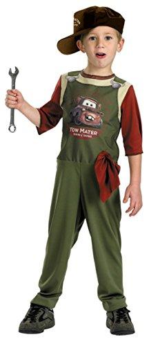 Boys Tow Mater Mechanic Kids Child Fancy Dress Party Halloween Costume, S (4-6) (Tow Mater Halloween Costume)