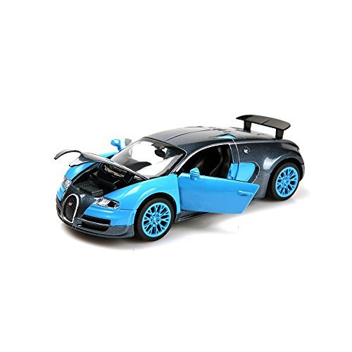 ZHMY 1:32 Bugatti Veyron Alloy Diecast car model collection light&sound (Blue)