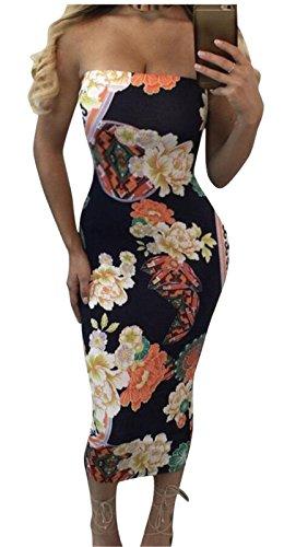 Printed Tube Slim Sexy Club Jaycargogo Womens Dress 2 a7qtwf