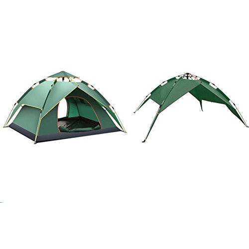 準備ができて嫌悪私TY&WJ 全自動 家族 キャンプテント,ティーピー アウトドア スポーツの 登山 旅行 二重層 2 人