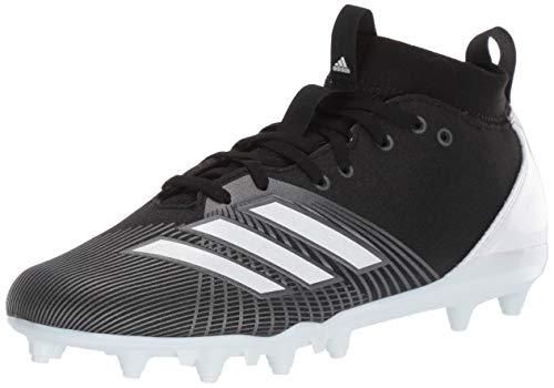 adidas Men's Adizero Spark Football Shoe, Black/White/Night Metallic, 8.5 M US