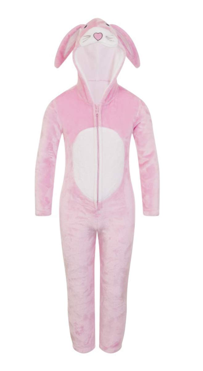 Boys Girls Novelty Animal All in One Luxury Hooded Soft Fleece All in One Onesies Sleepsuit