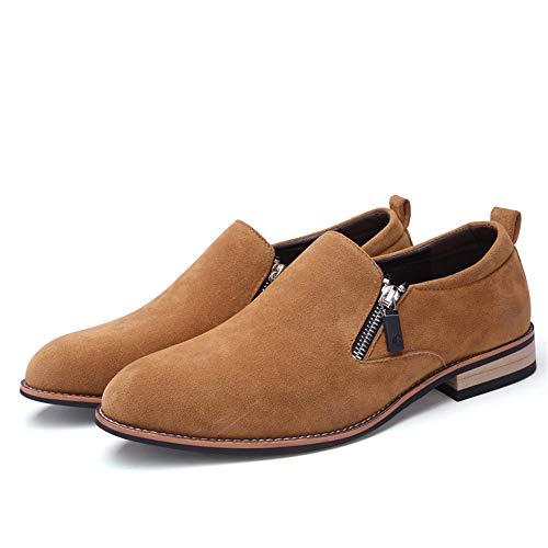 de Respirables los Ocasionales Ante Cuero de Zapatos Oxford Hombres de británicos de Marrón Oxford P0p8xqxY