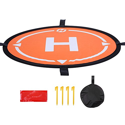 "Holy Stone Drone Landing Pad 21.65""/55cm Waterproof Universal Portable Fast-Fold Accessory for All Holy Stone Drones& More Quadcopter Helicopter"