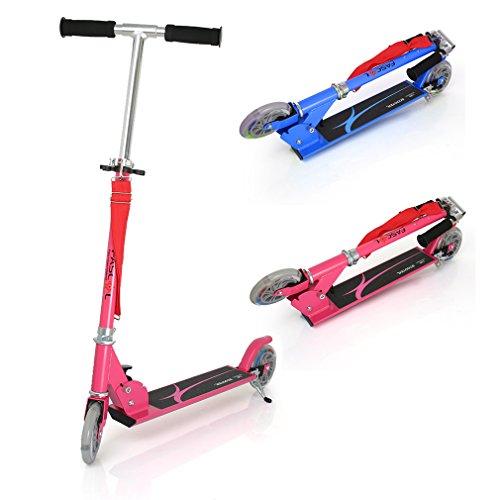 Patinete plegable con dos ruedas, Fascol Patinete Monopatín Scooter para ciudad niños 3 – 13 años
