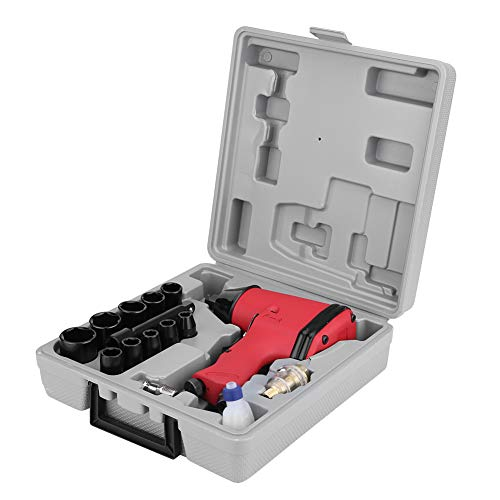 VEPEN 17PCS Professional Air Impact Wrench, 1/2inch Twin Hammer Pneumatic Removal Wrench Gun Kit Set W/Sockets, US Adapter and -