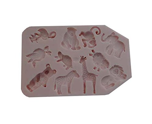 NOAH'S ARK Animals, savage animals, Silicone Mold By Oh! Sweet Art FDA Approved for Food by Oh! Sweet Art