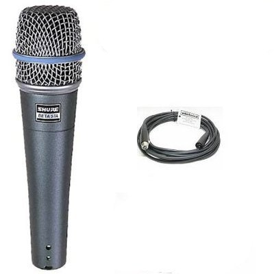 Shure Beta 57a Microphone + Whirlwind 20' XLR Cable 20' Whirlwind Xlr Cable