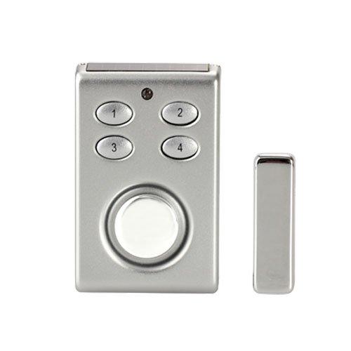 Kleine Fenstersicherung Türsicherung Einbruchschutz Türalarm / Fensteralarm FUNK Alarmanlage Alarm Alarmsystem für Tür Fenster + Solarpanel + Sirene