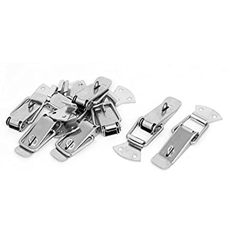 EbuyChX Toolbox maleta Box 90mm Long Metal Spring Loaded Toggle Latches Locks 10pcs - - Amazon.com