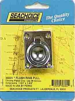 SEACHOICE/LAND&SEA INC. 36601 Flush Ring Pull - Seachoice Flush Ring Pull