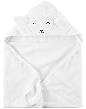 Carter's Baby Boys/Girls' Lamb Hooded Towel, White